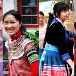 Filles locales de Yuanyang
