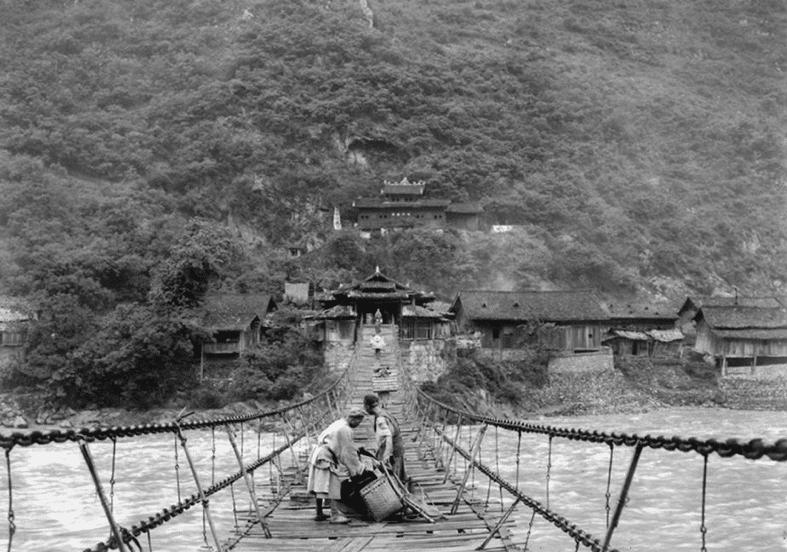 Pont suspendu en bois Yunnan