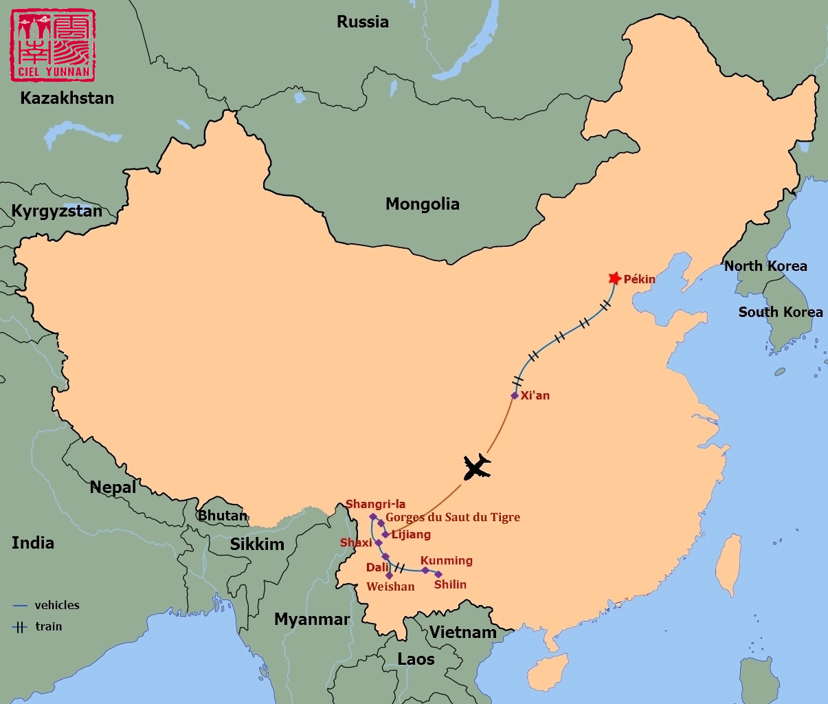 Pékin Xi'an et Yunnan en petit groupe