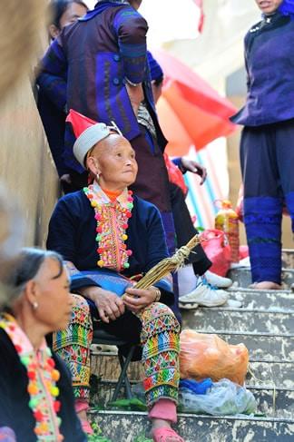 Ethnie Yao Marche Yuanyang Yunnan