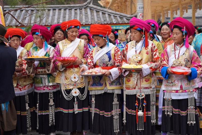 Filles tibetaines Shangri-La