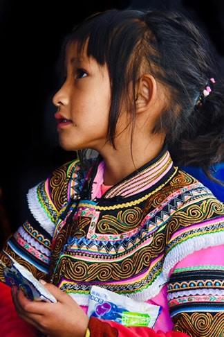 Fille Hani Duoyishu Yuanyang Yunnan Chine