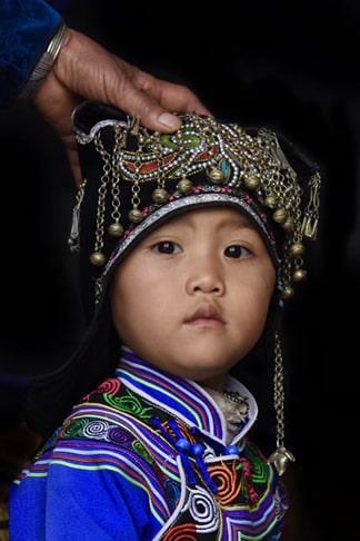 enfant-Hani-Yuanyang-Yunnan-Chine
