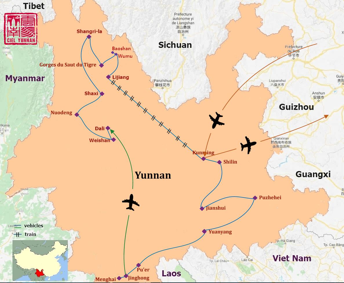 Traversée du Yunnan