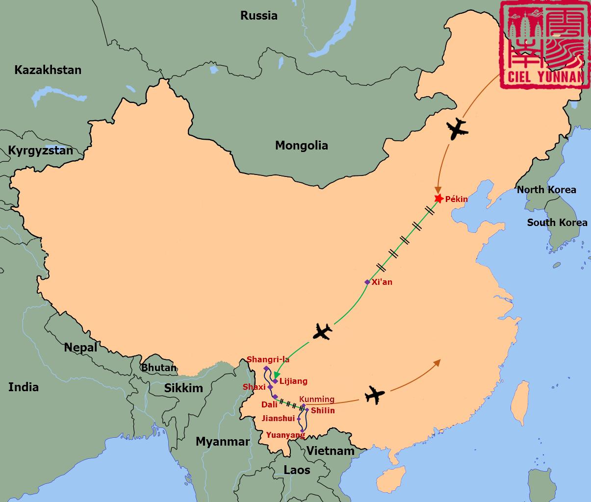 carte-du-yunnan-circuit-Chine-imperiale-et-minorites